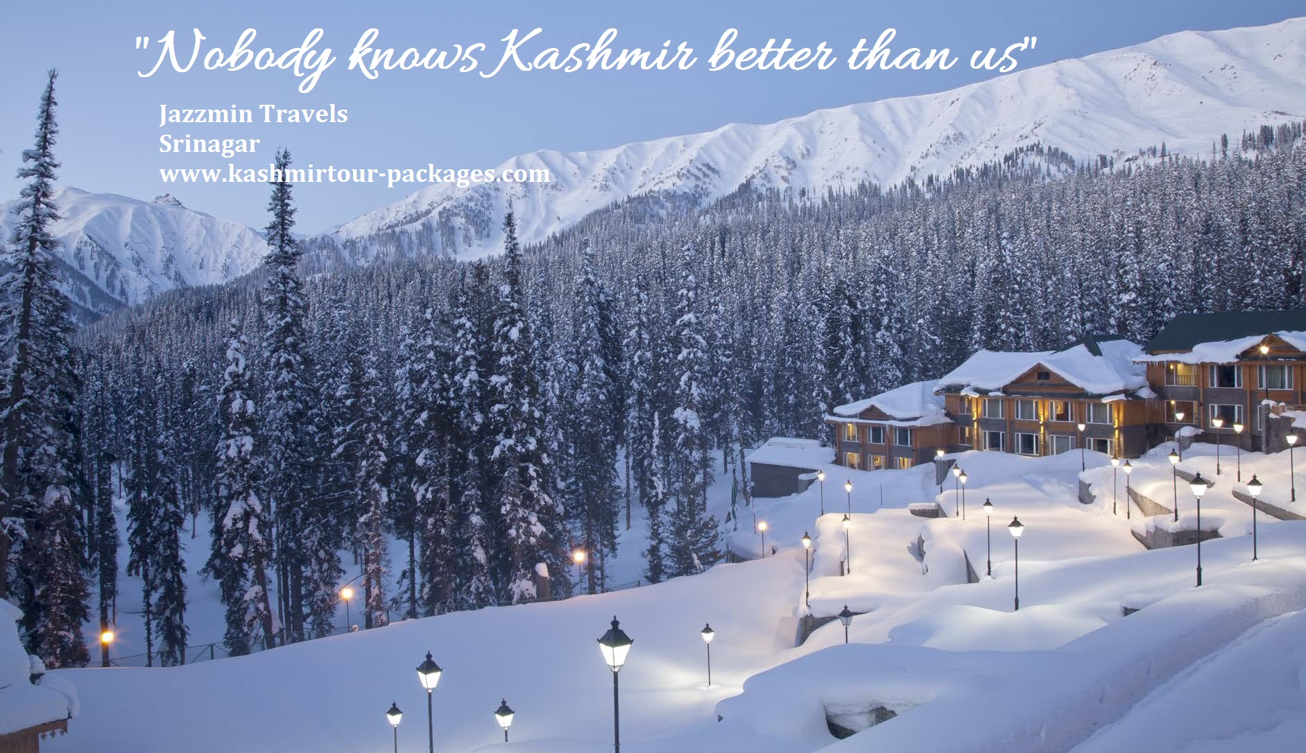 """""""Nobody knows Kashmir better than us"""". Kashmir Tour Packages from Jazzmin Travels."""