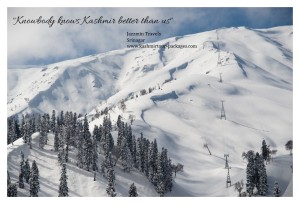 Beautiful view of Kashmir snow peaked mountains